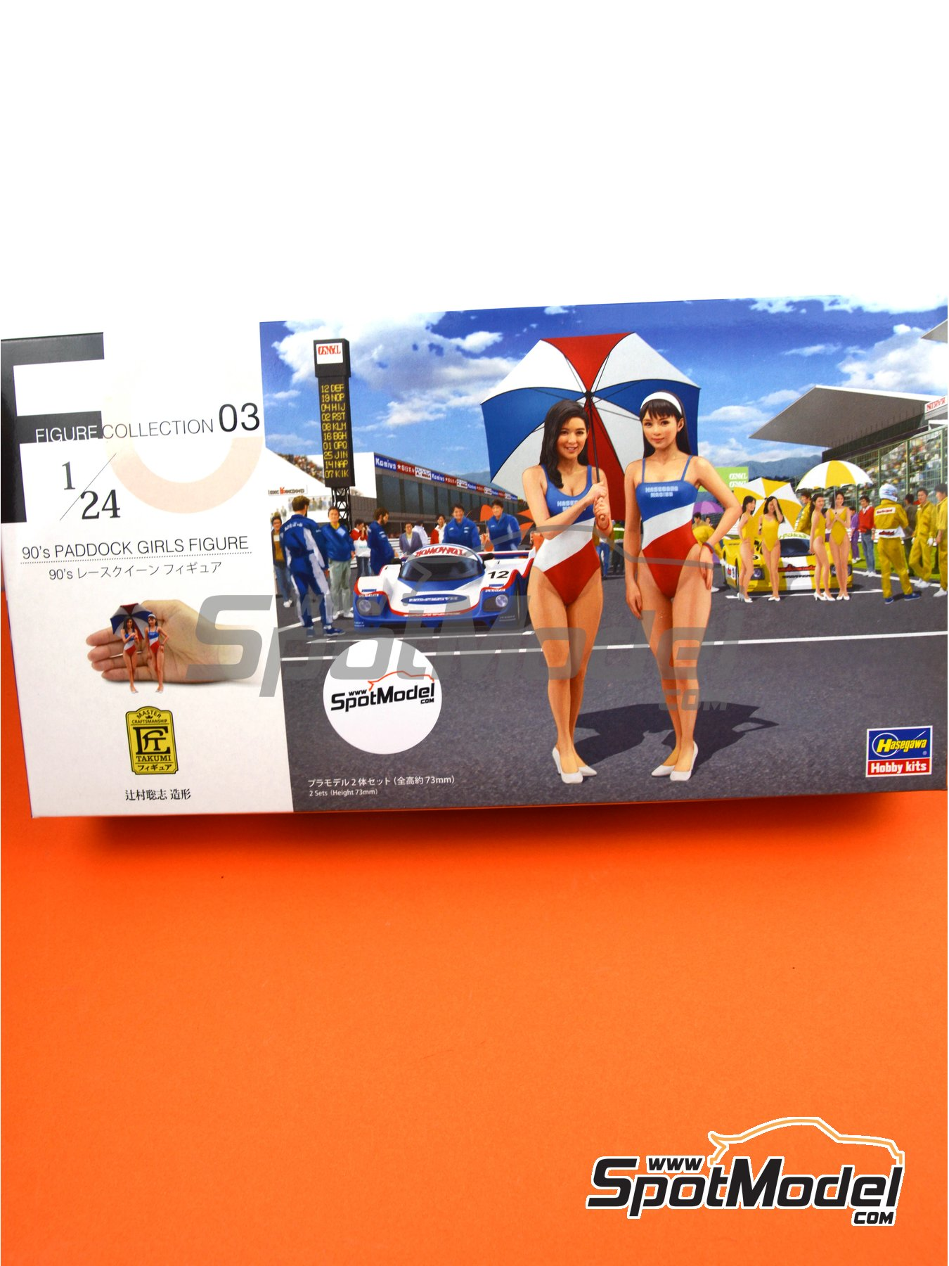 Paddock 90's Girls | Figure in 1/24 scale manufactured by Hasegawa (ref.29103) image