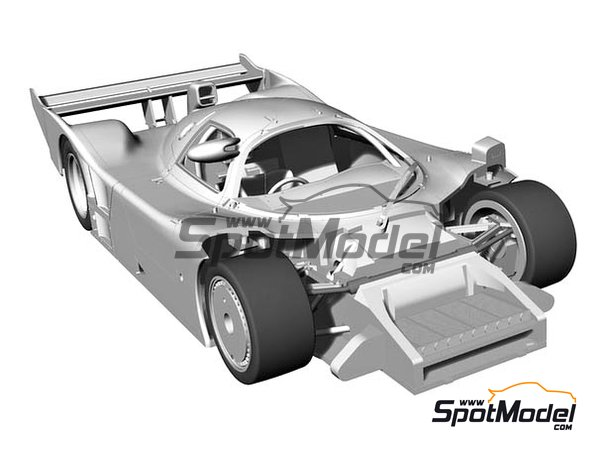 Image 3: Nissan R91CP Group C Calsonic Nismo - Japan Sport Prototype Endurance Championship (JSPC) 1991 | Model car kit in 1/24 scale manufactured by Hasegawa (ref. 21131, also HC-31 and HSGHC31)