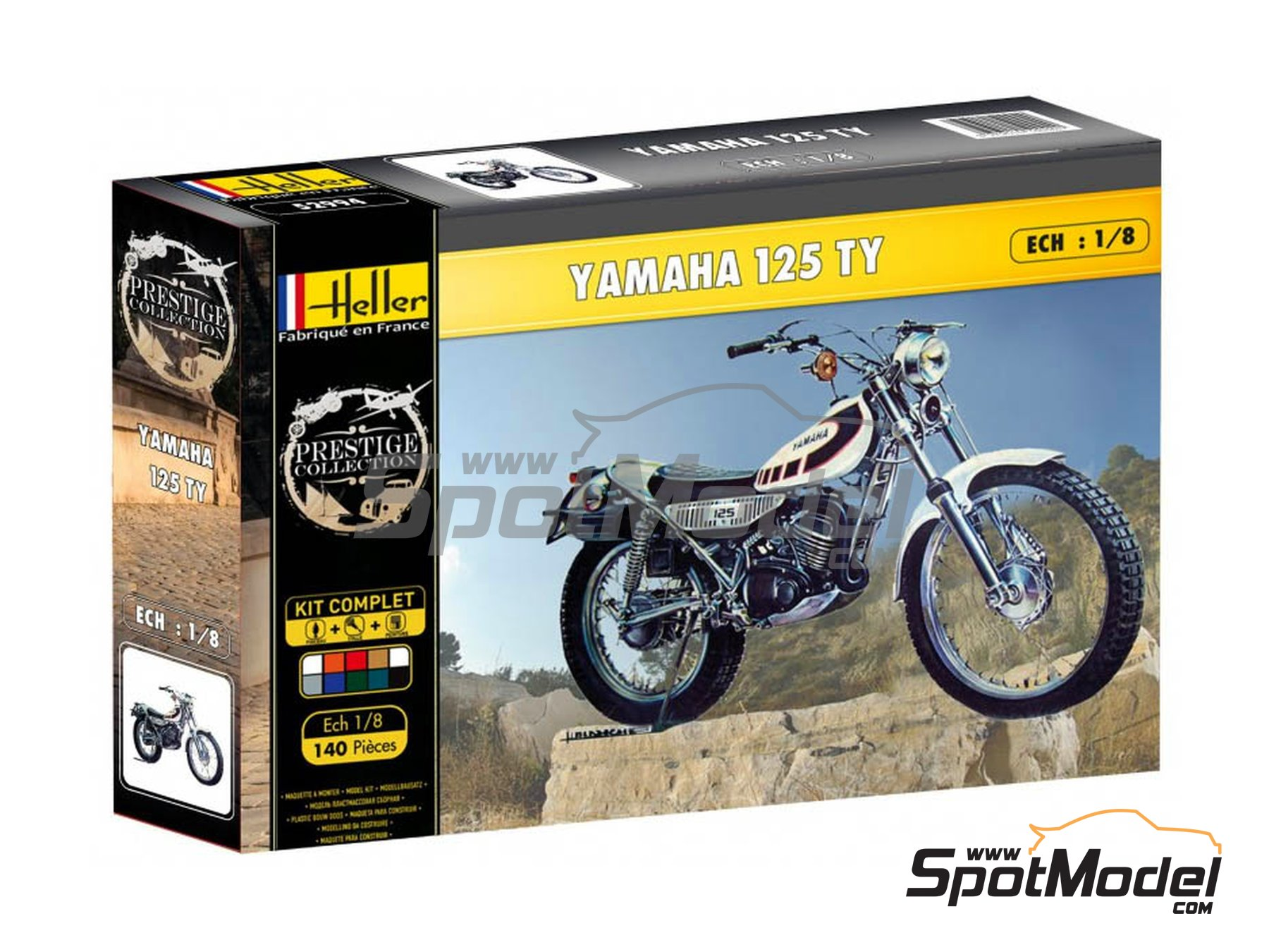 Image 1: Yamaha 125 TY | Model bike kit in 1/8 scale manufactured by Heller (ref. 52994)