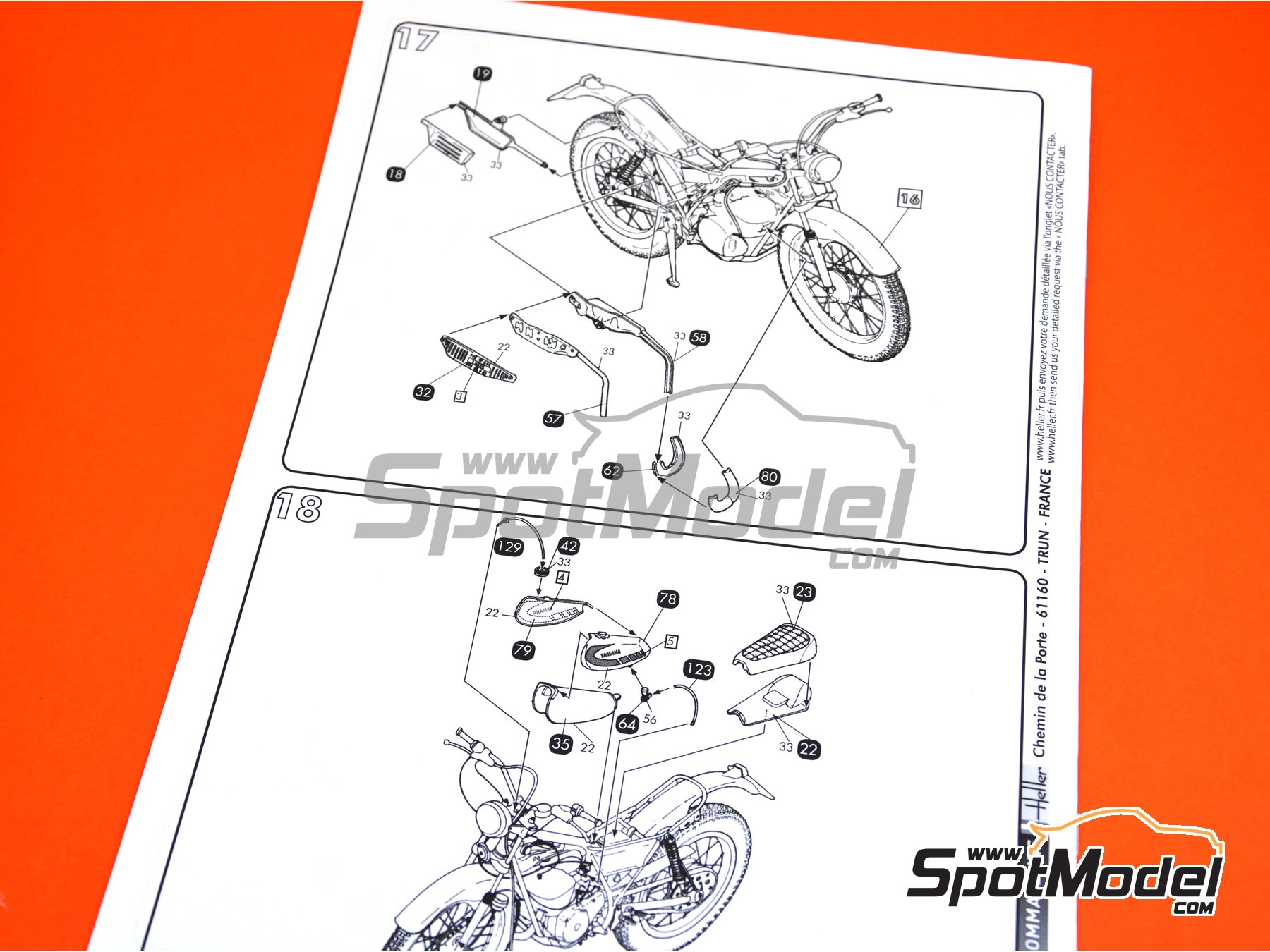 Image 11: Yamaha 125 TY | Model bike kit in 1/8 scale manufactured by Heller (ref. 52994)