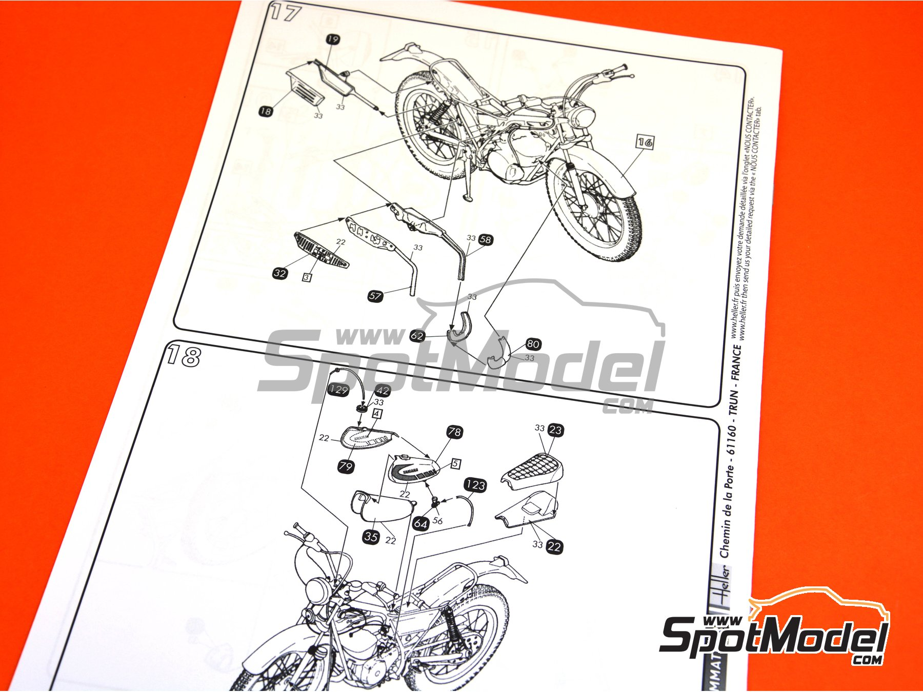 Image 12: Yamaha 125 TY | Model bike kit in 1/8 scale manufactured by Heller (ref. 52994)