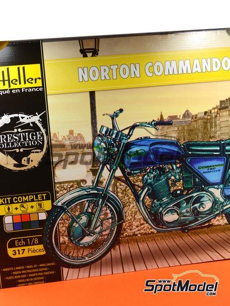 Norton Commando 750 Roadster | Maqueta de moto en escala1/8 fabricado por Heller (ref.52996) image