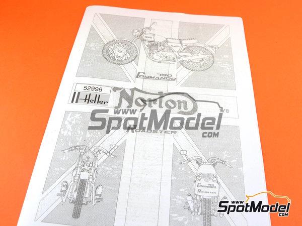 Image 9: Norton Commando 750 Roadster | Maqueta de moto en escala1/8 fabricado por Heller (ref.52996)