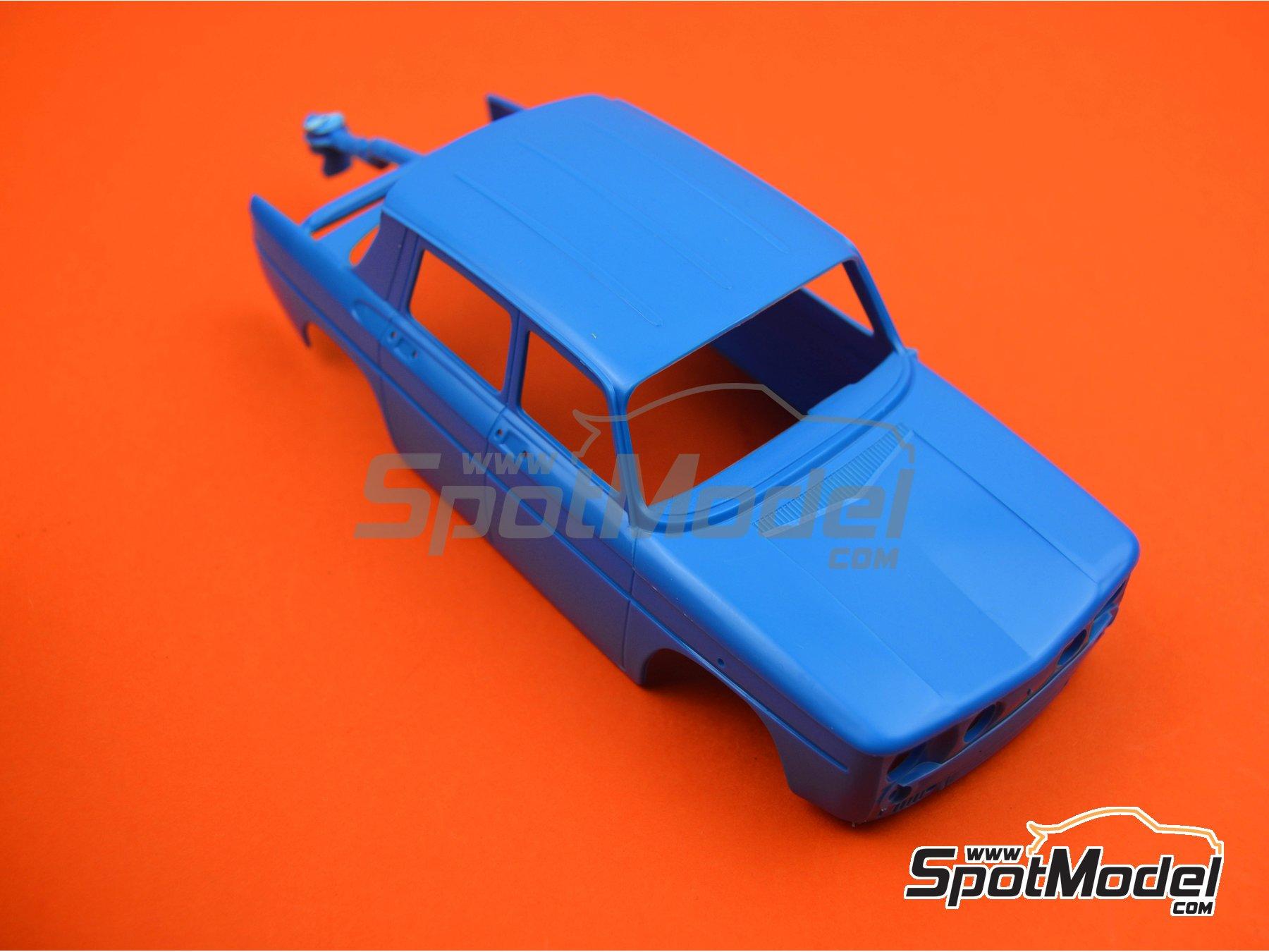 Image 4: Renault R8 Gordini - Rally de Montecarlo - Rallye Automobile de Monte-Carlo, Rally Tour de Corse 1967 | Maqueta de coche en escala1/24 fabricado por Heller (ref.80700, tambien L760 y HE80700)