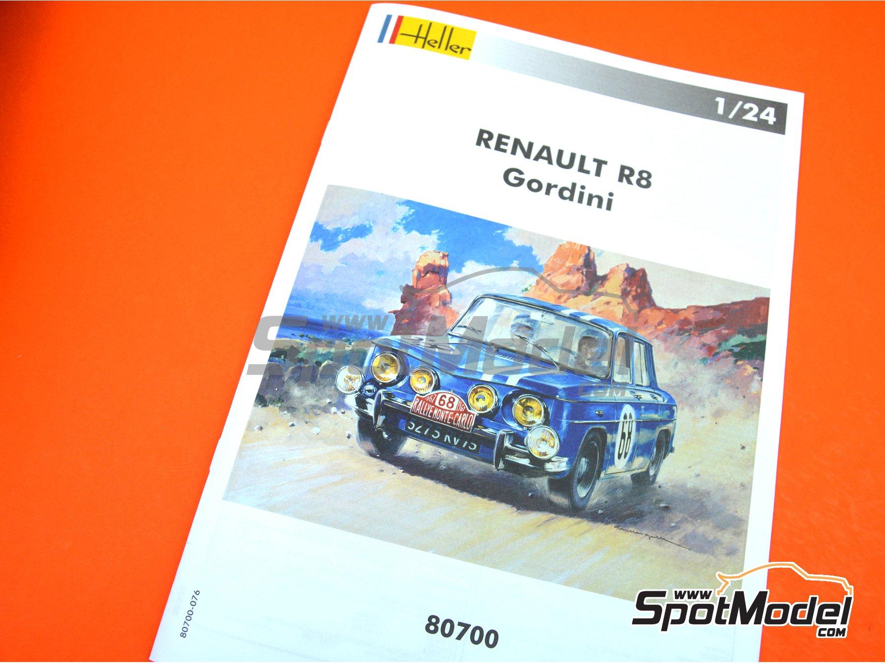 Image 10: Renault R8 Gordini - Rally de Montecarlo - Rallye Automobile de Monte-Carlo, Rally Tour de Corse 1967 | Maqueta de coche en escala1/24 fabricado por Heller (ref.80700, tambien L760 y HE80700)