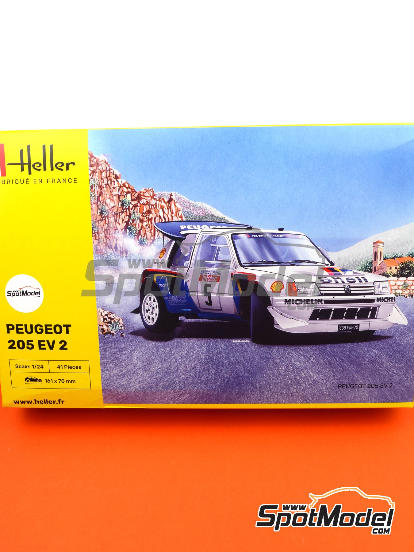 Peugeot 205 Evo 2 Turbo 16 Shell - Tour de Corse 1986 | Model car kit in 1/24 scale manufactured by Heller (ref. 80716) image