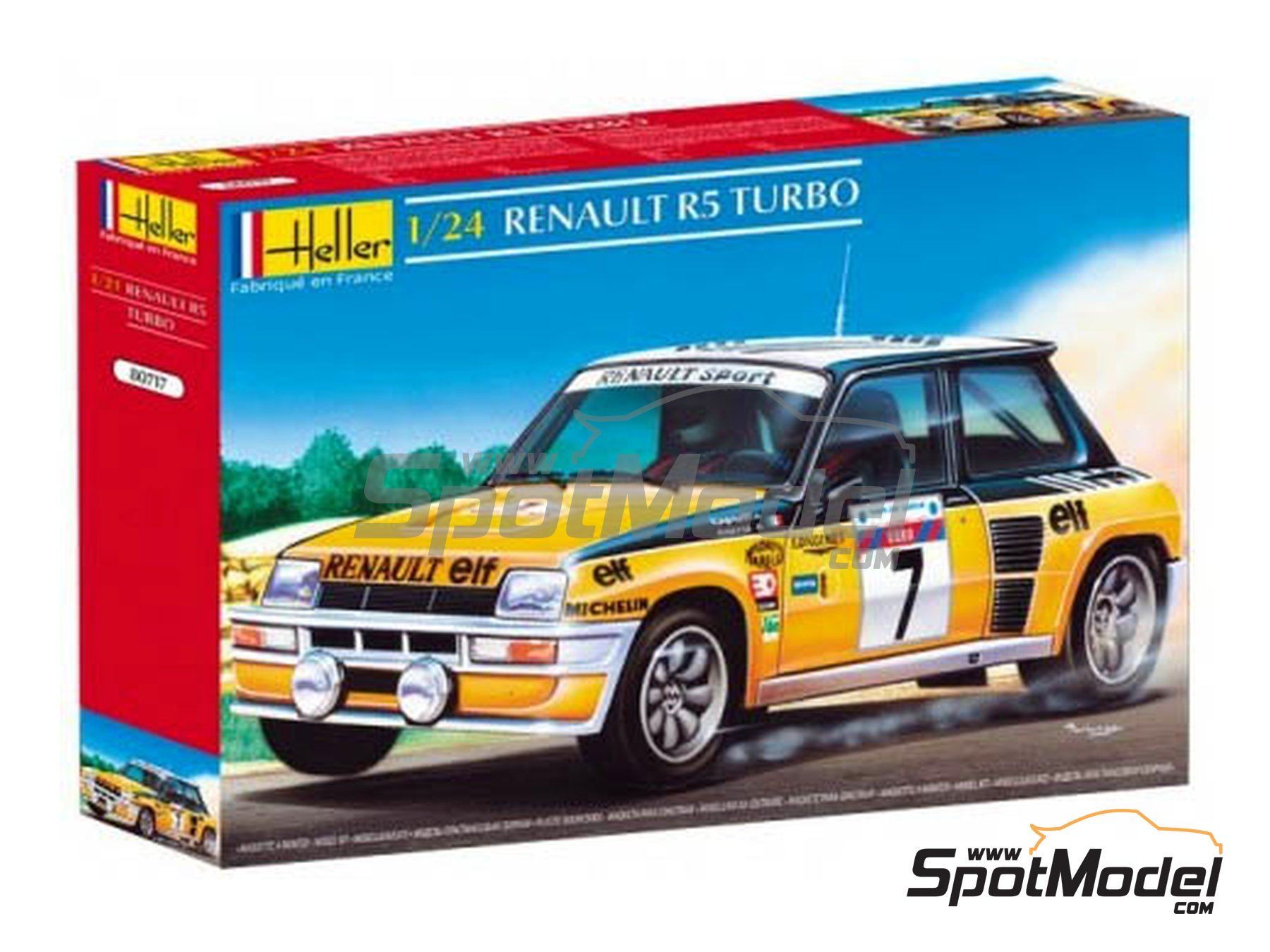 Image 1: Renault R5 Turbo ELF - Rally Tour de Corse 1982 | Maqueta de coche en escala1/24 fabricado por Heller (ref.80717)