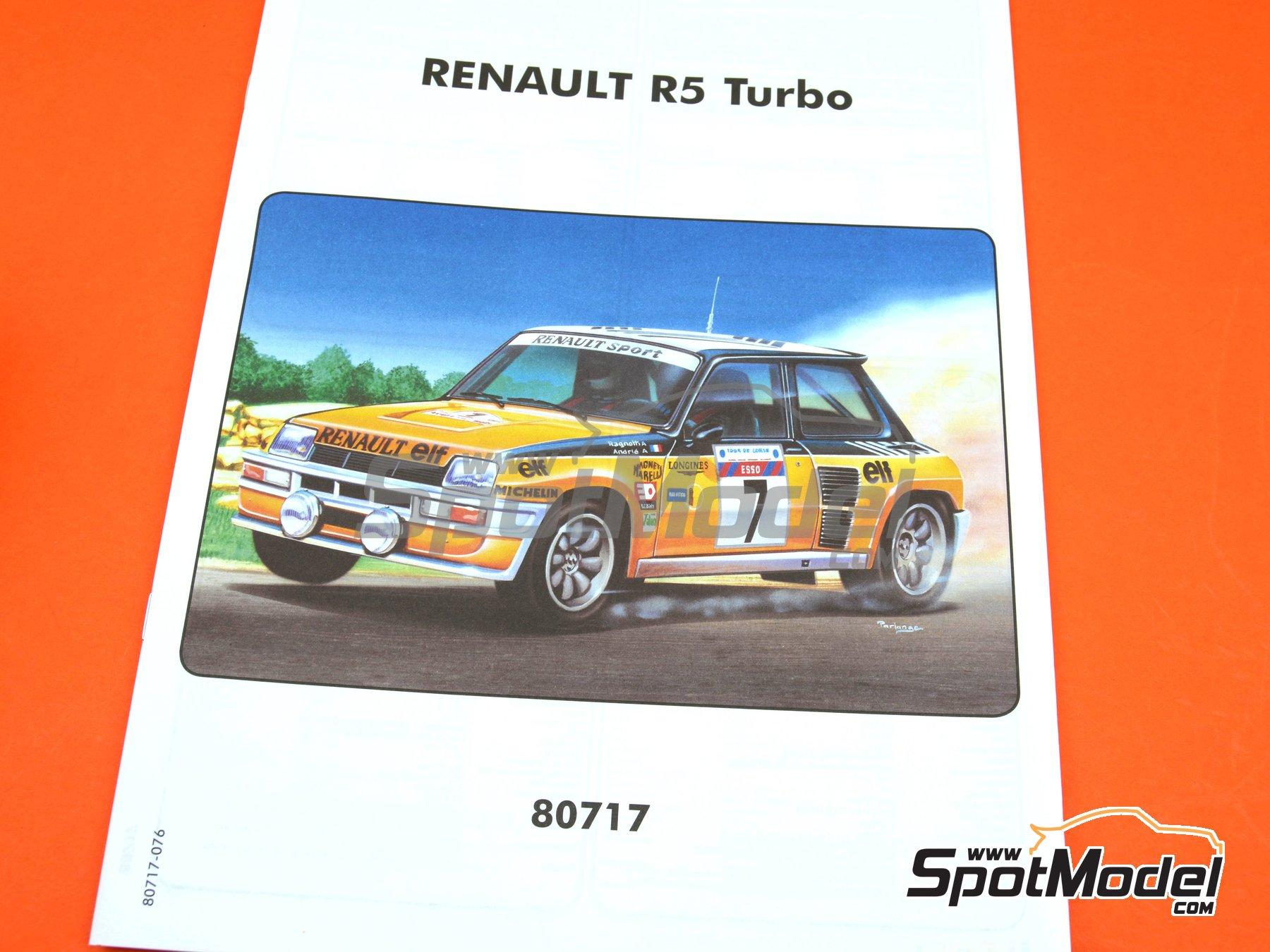 Image 10: Renault R5 Turbo ELF - Rally Tour de Corse 1982 | Maqueta de coche en escala1/24 fabricado por Heller (ref.80717)
