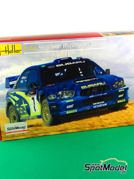 Subaru Impreza WRC - Chypre Rally 2003 | Model car kit in 1/24 scale manufactured by Heller (ref. 80750) image