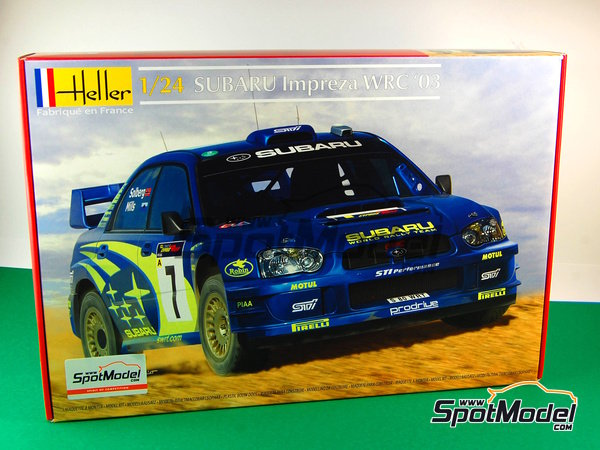 Image 1: Subaru Impreza WRC - Chypre Rally 2003 | Model car kit in 1/24 scale manufactured by Heller (ref. 80750)