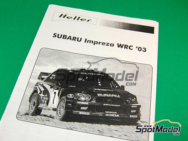 Image 6: Subaru Impreza WRC - Chypre Rally 2003 | Model car kit in 1/24 scale manufactured by Heller (ref. 80750)