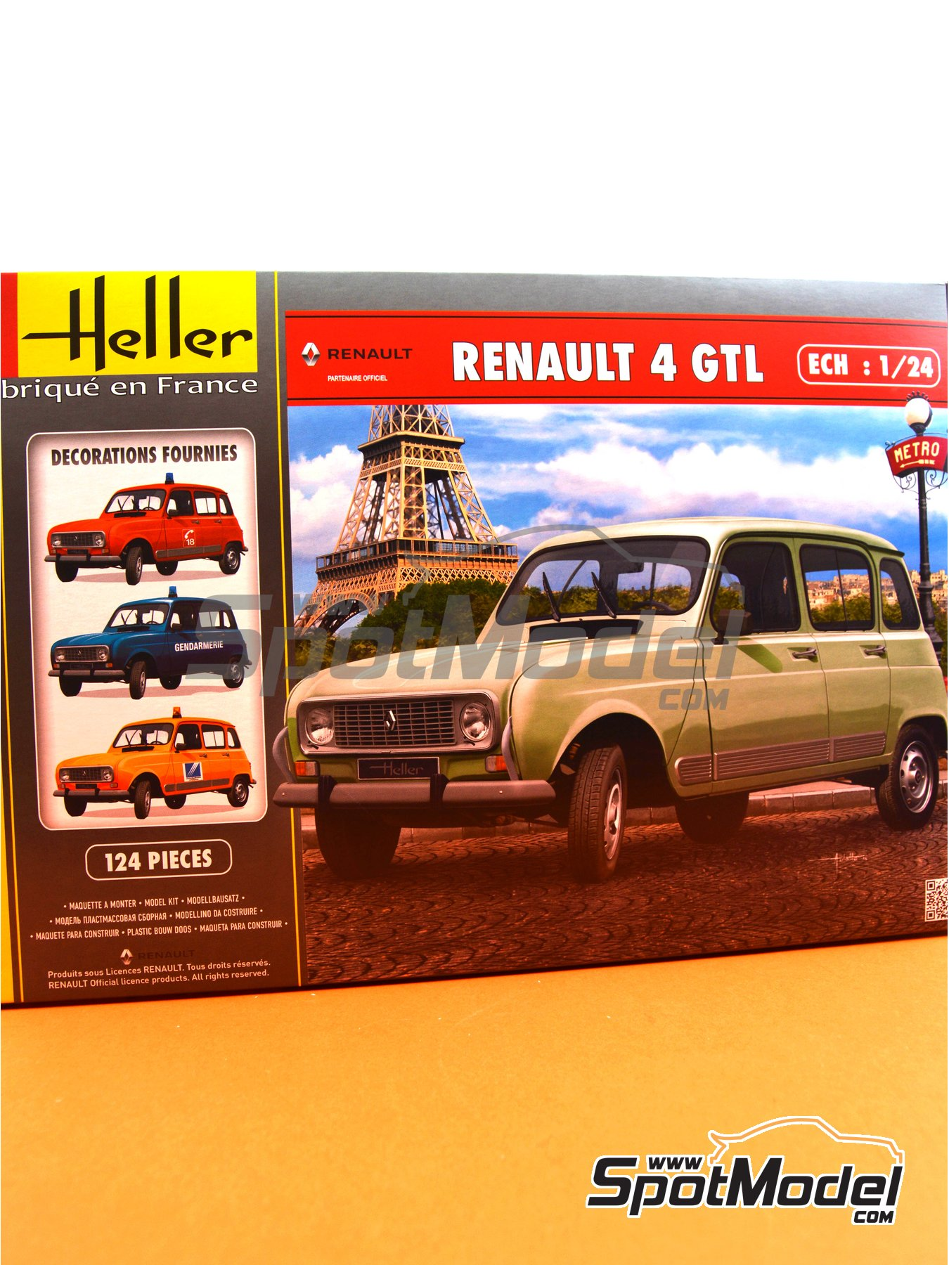 Renault 4L TL/GTL | Model car kit in 1/24 scale manufactured by Heller (ref. 80759) image