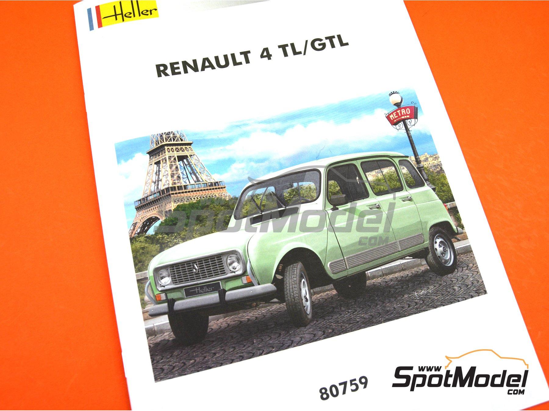 Image 8: Renault 4L TL/GTL | Model car kit in 1/24 scale manufactured by Heller (ref.80759)