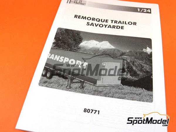 Image 1: Trailer clásico con lona | Maqueta de remolque en escala1/24 fabricado por Heller (ref.80771)
