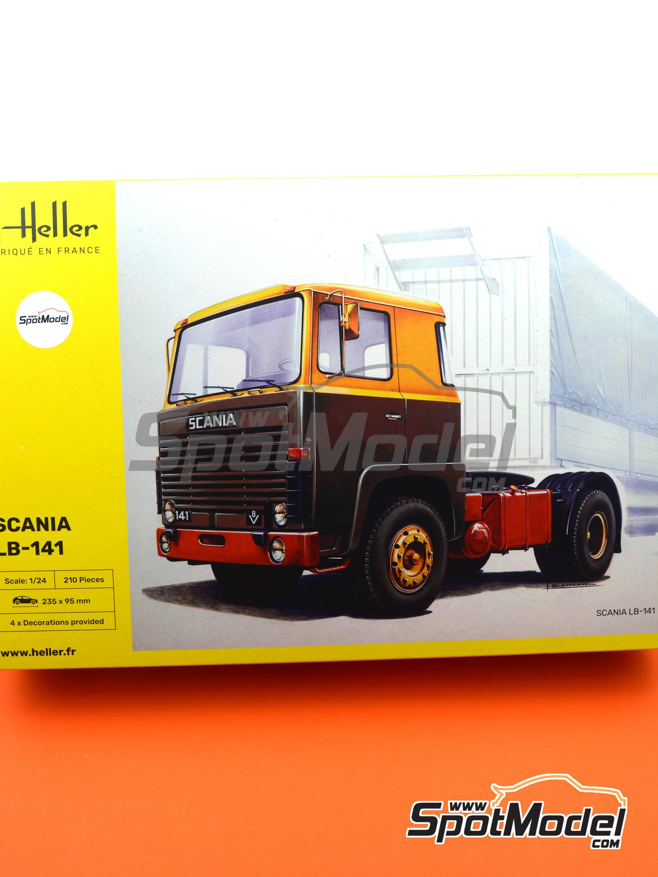 Scania LB 141 V8 -  1979 | Model truck kit in 1/24 scale manufactured by Heller (ref. 80773) image