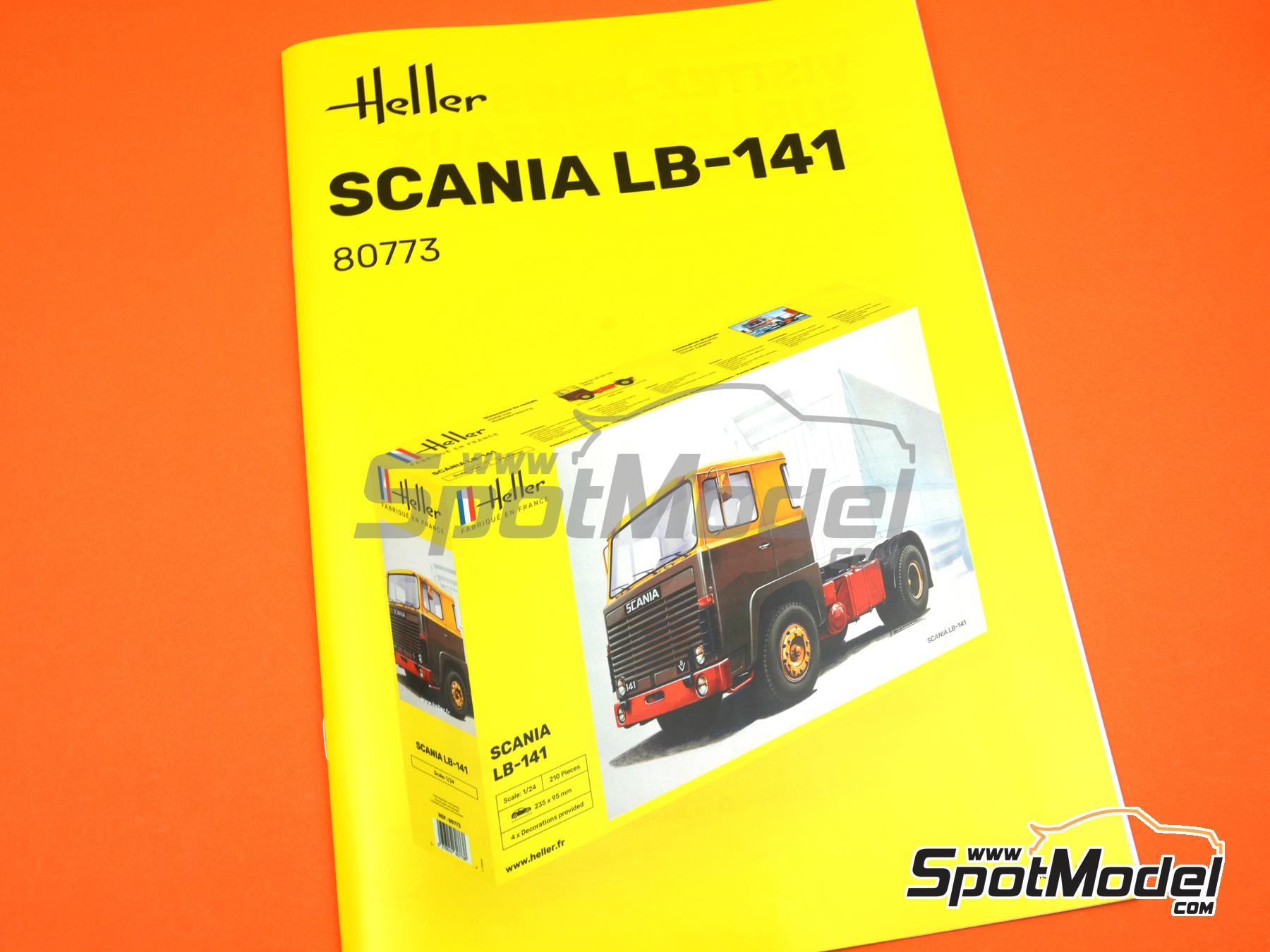 Image 11: Scania LB 141 V8 -  1979 | Model truck kit in 1/24 scale manufactured by Heller (ref. 80773)