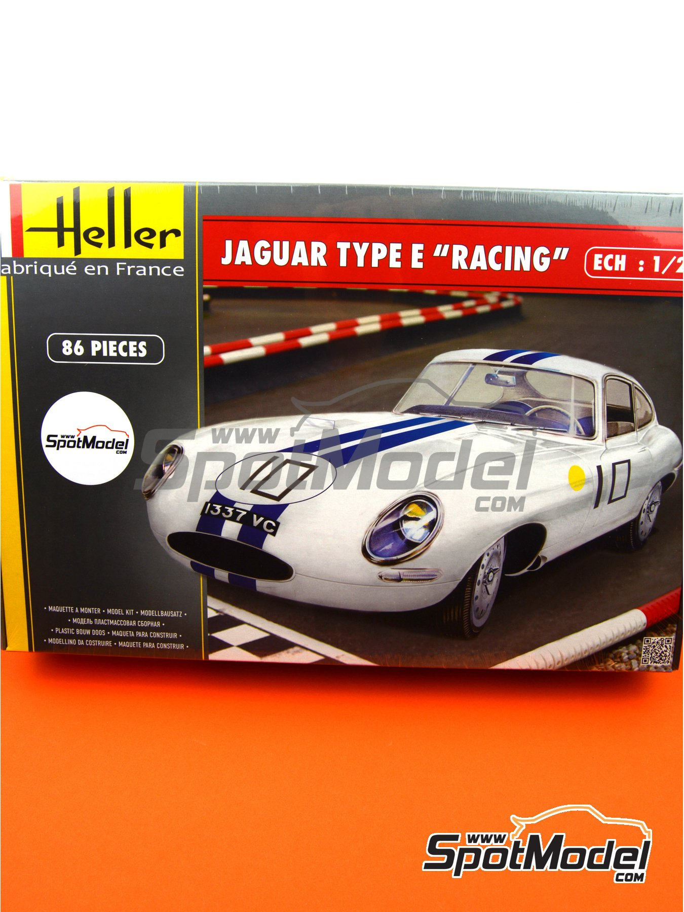 Jaguar Type E Racing -  1962 | Model car kit in 1/24 scale manufactured by Heller (ref. 80783) image