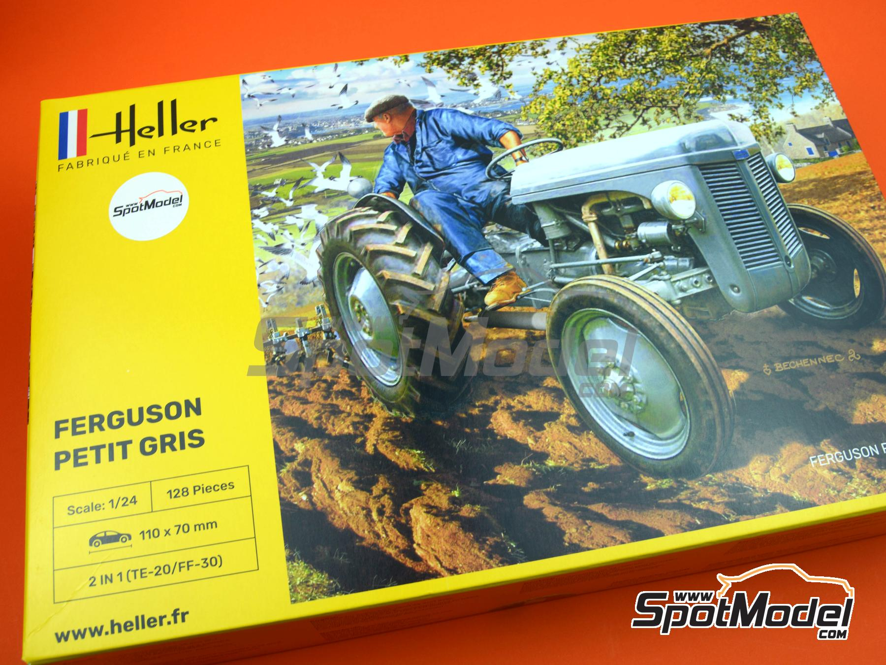 Image 1: Ferguson TE-20 tractor | Model tractor kit in 1/24 scale manufactured by Heller (ref. 81401)