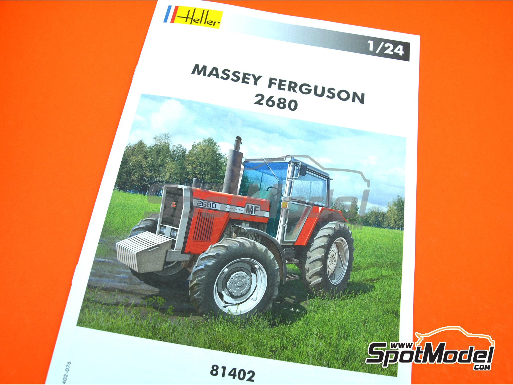 Image 6: Massey Ferguson 2680 | Model tractor kit in 1/24 scale manufactured by Heller (ref.81402)