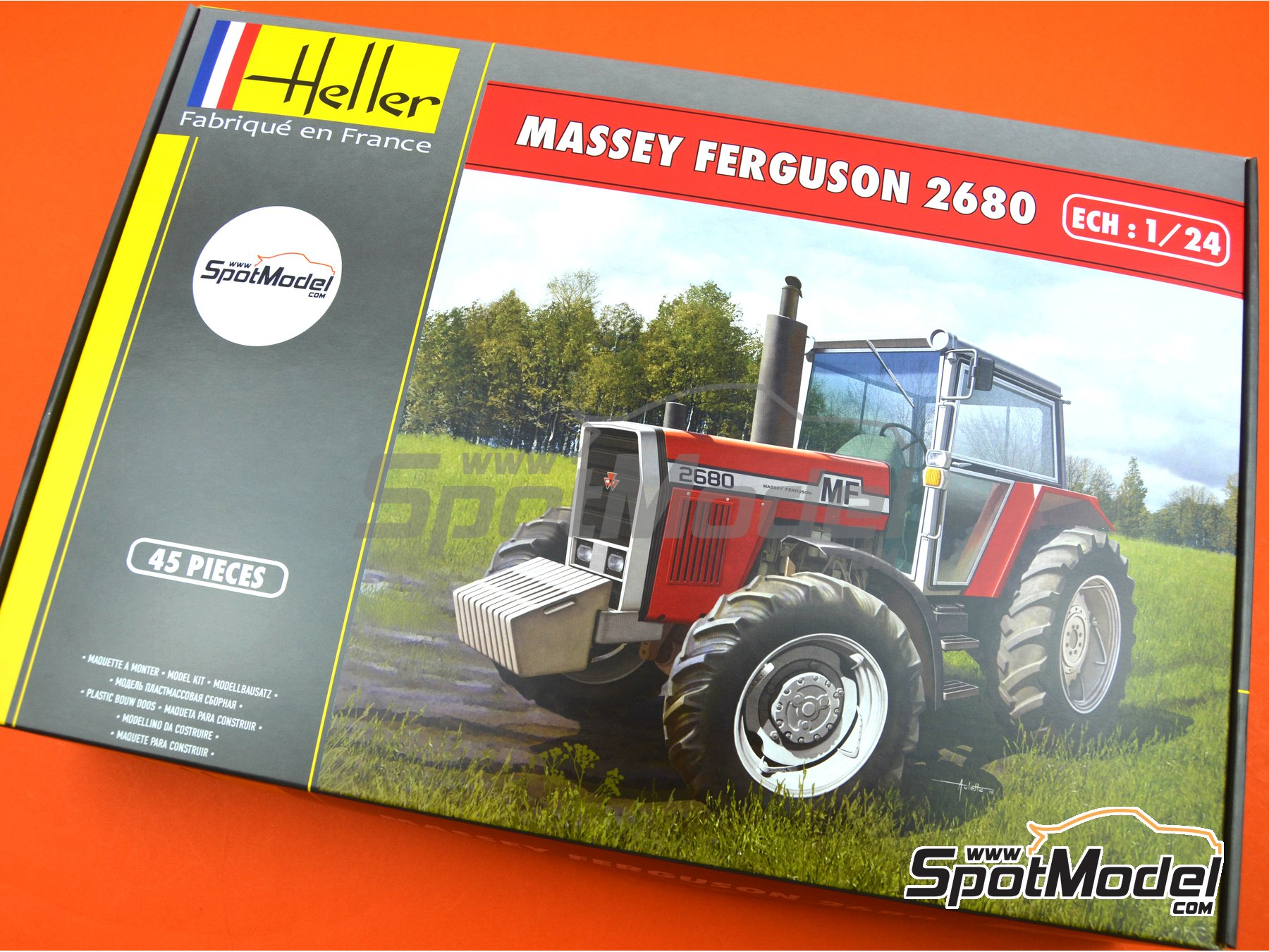 Image 9: Massey Ferguson 2680 | Model tractor kit in 1/24 scale manufactured by Heller (ref.81402)