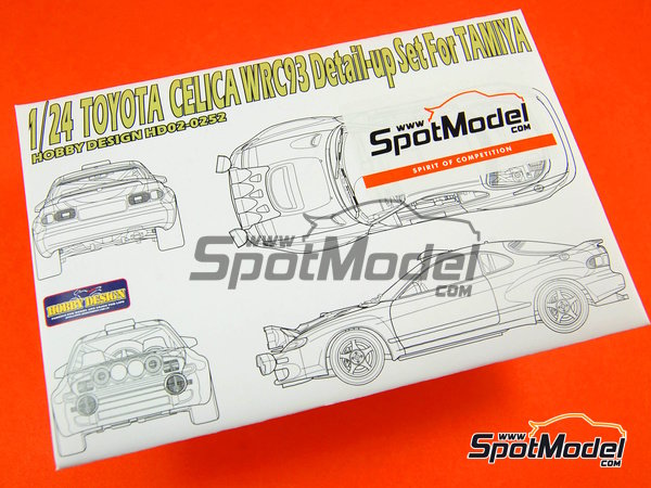 Image 1: Toyota Celica WRC - FIA WRC World Rally Championship 1993 | Detail up set in 1/24 scale manufactured by Hobby Design (ref.HD02-0252)