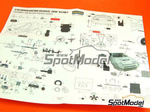 Image 2: Toyota Celica WRC - Campeonato del Mundo de Rally FIA WRC 1993 | Set de mejora y detallado en escala1/24 fabricado por Hobby Design (ref.HD02-0252)