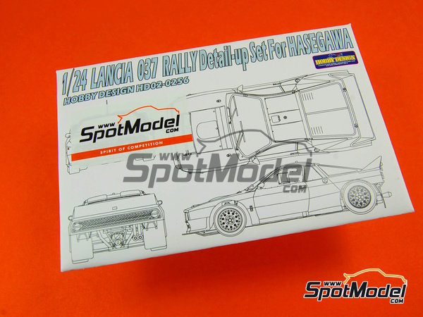 Image 12: Lancia 037 Rally | Detail up set in 1/24 scale manufactured by Hobby Design (ref.HD02-0256)