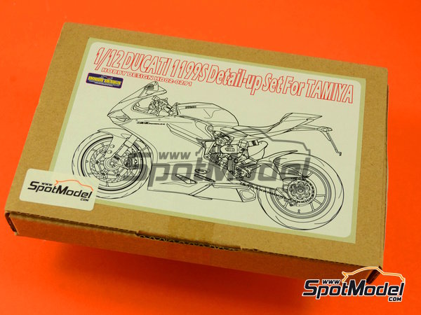 Image 12: Ducati 1199 Panigale S   Detail up set in 1/12 scale manufactured by Hobby Design (ref.HD02-0291)
