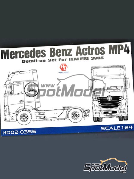 Mercedes Benz Actros Gigaspace MP4 | Detail up set in 1/24 scale manufactured by Hobby Design (ref. HD02-0356) image