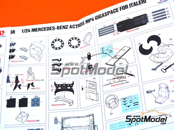 Image 4: Mercedes Benz Actros Gigaspace MP4 | Detail up set in 1/24 scale manufactured by Hobby Design (ref. HD02-0356)