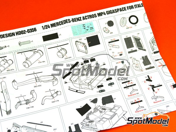 Image 5: Mercedes Benz Actros Gigaspace MP4 | Detail up set in 1/24 scale manufactured by Hobby Design (ref. HD02-0356)