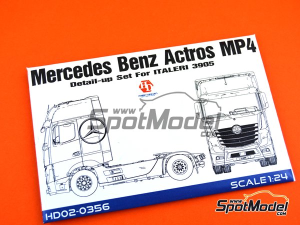 Image 6: Mercedes Benz Actros Gigaspace MP4 | Detail up set in 1/24 scale manufactured by Hobby Design (ref. HD02-0356)