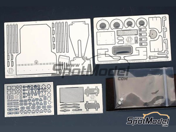 Image 1: Lancia Delta HF Integrale 16v | Detail up set in 1/24 scale manufactured by Hobby Design (ref.HD02-0357)