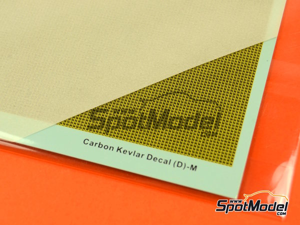Image 2: Kevlar fiber with medium size pattern | Decals in 1/12 scale manufactured by Hobby Design (ref. HD04-0105)