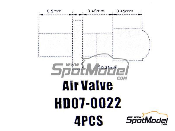 Image 1: Válvula de inflado | Válvula de inflado en escala1/24 fabricado por Hobby Design (ref.HD07-0022)