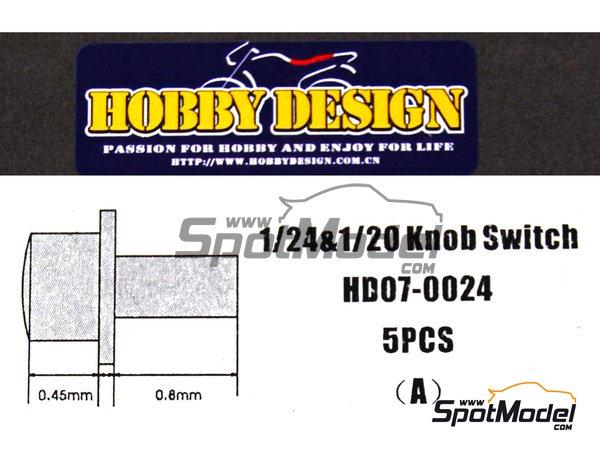 Image 1: Interruptor | Detalle en escala1/24 fabricado por Hobby Design (ref.HD07-0024)