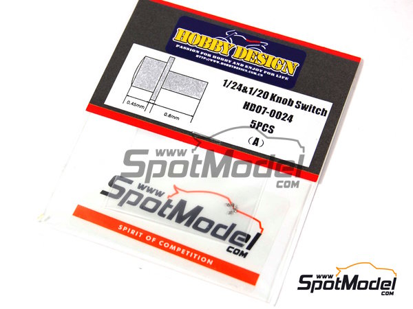 Image 2: Knob switch | Detail in 1/24 scale manufactured by Hobby Design (ref.HD07-0024)