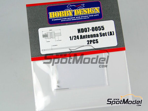 Image 1: Antenna Set | Antenna in 1/24 scale manufactured by Hobby Design (ref. HD07-0055)