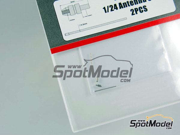 Image 2: Antenna Set | Antenna in 1/24 scale manufactured by Hobby Design (ref. HD07-0055)