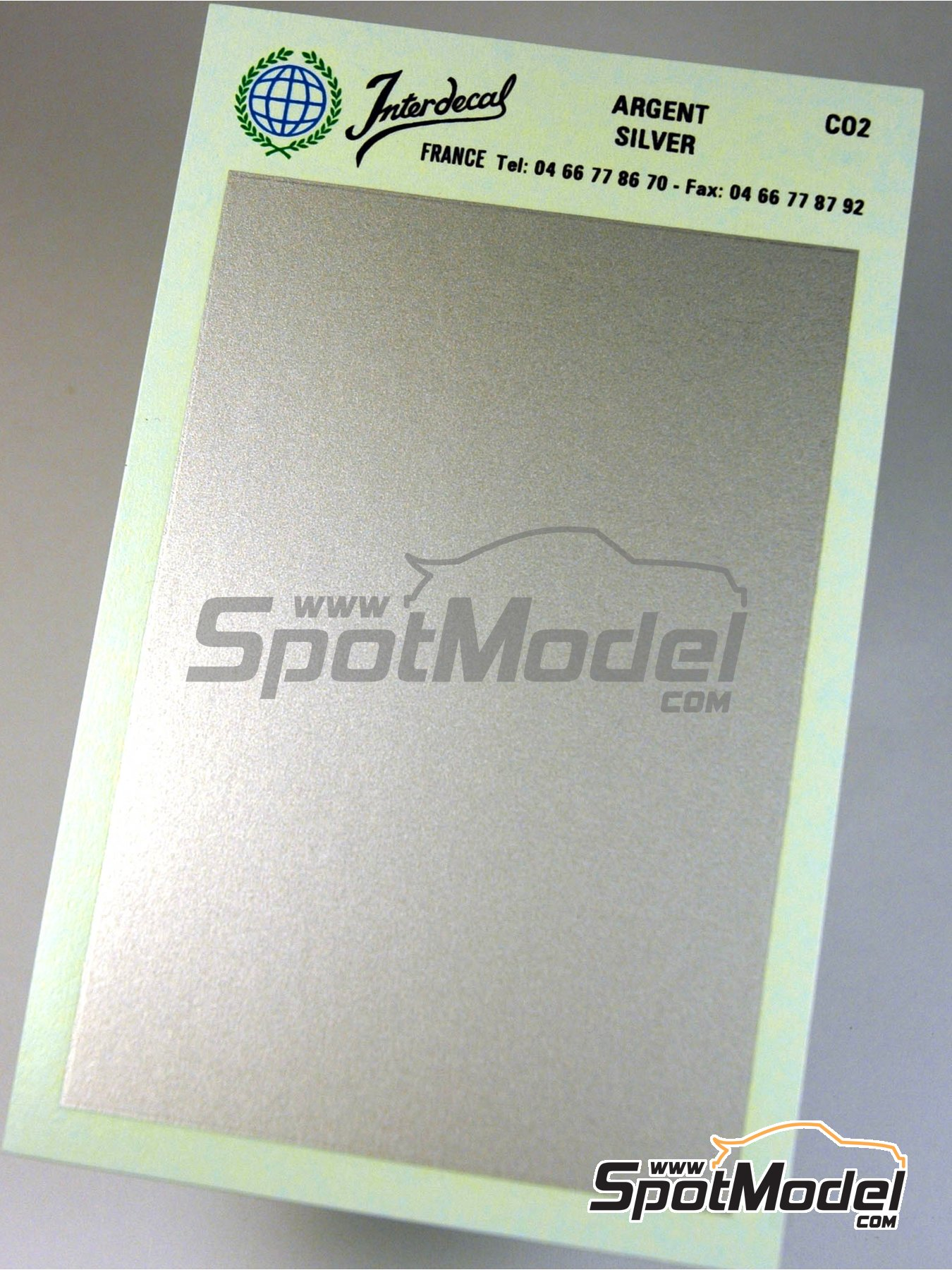 75 x 110 mm Silver   Decals manufactured by Interdecal (ref.INTERD-CO02) image