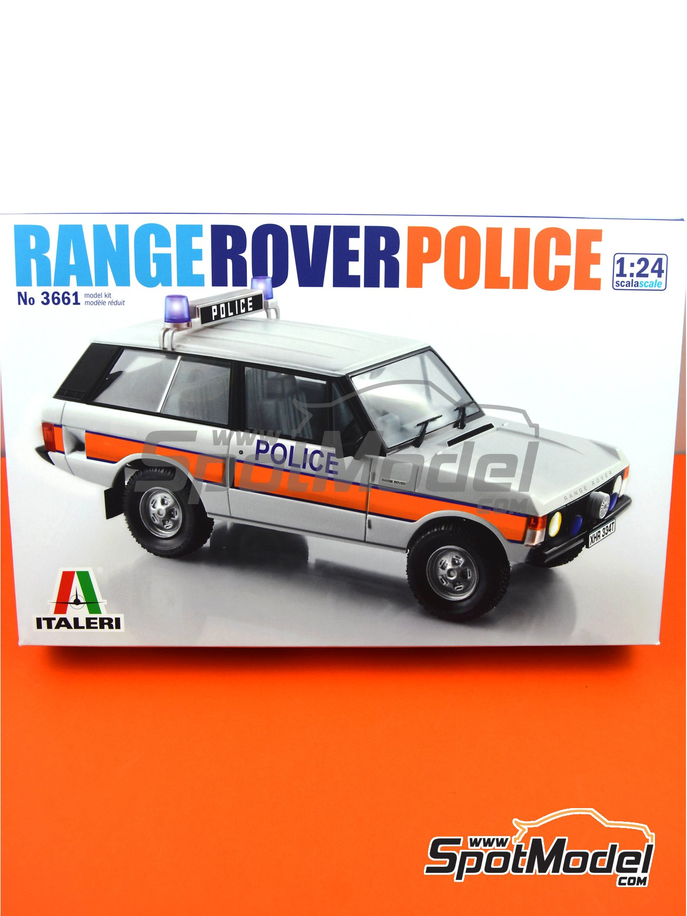Range Rover Police -  1979 and 1980 | Model car kit in 1/24 scale manufactured by Italeri (ref. 3661, also ita3661, IT3661 and 8001283036610) image