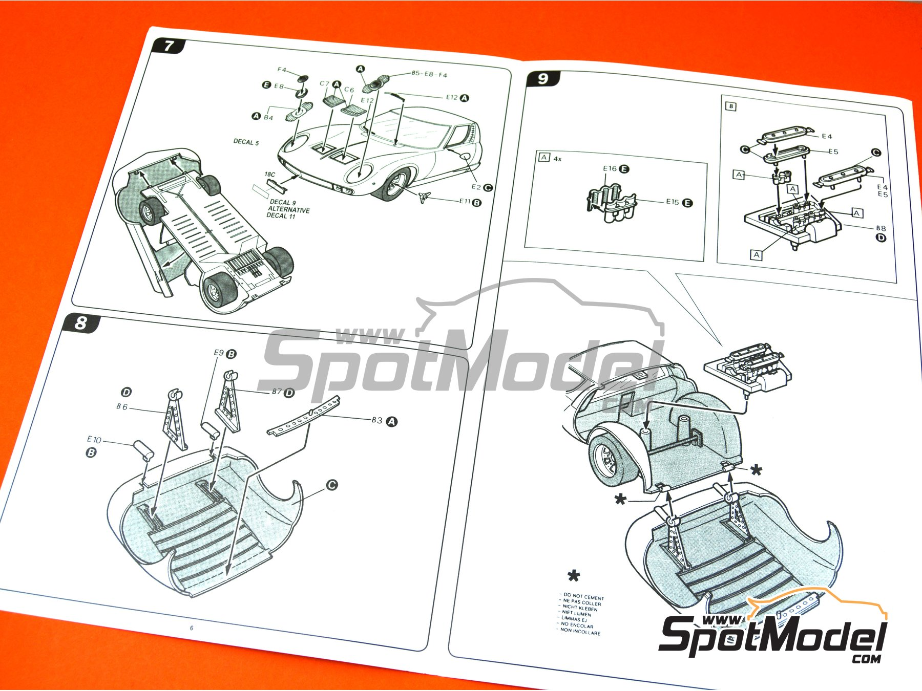 Image 6: Lamborghini Miura | Model car kit in 1/24 scale manufactured by Italeri (ref.3686)