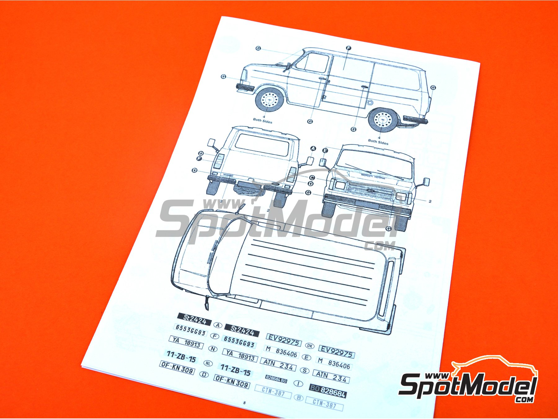 Image 7: Ford Transit Mk.2 | Model van kit in 1/24 scale manufactured by Italeri (ref. 3687)
