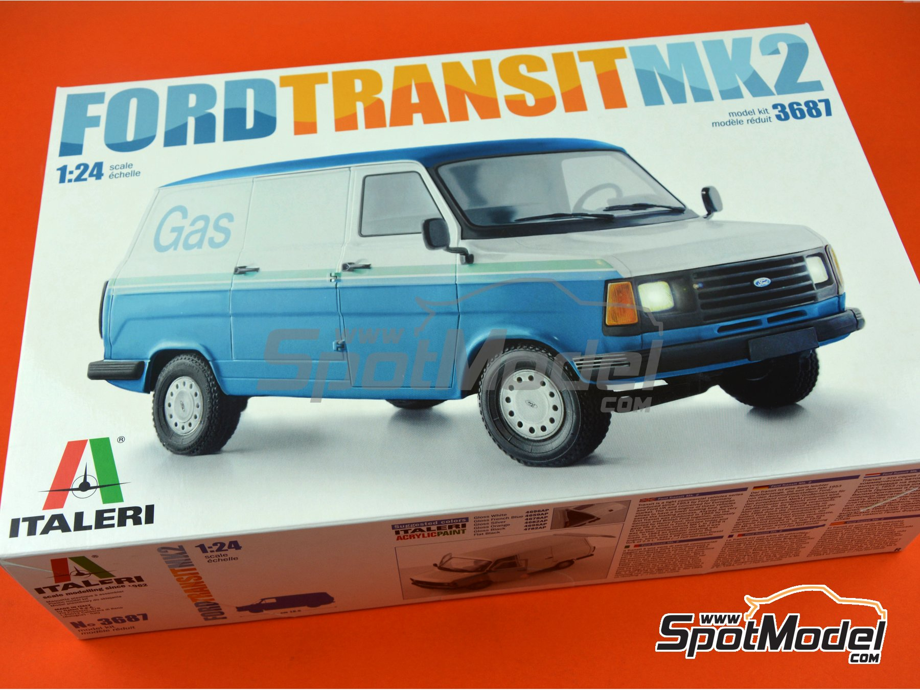 Image 12: Ford Transit Mk.2 | Model van kit in 1/24 scale manufactured by Italeri (ref. 3687)