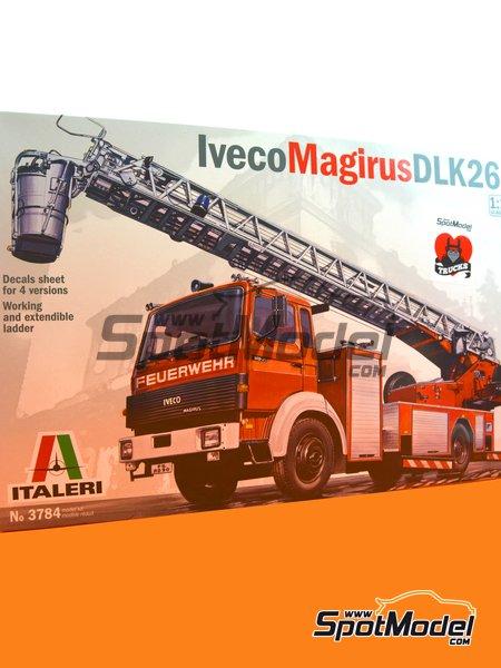 Iveco Magirus DLK 26-12 Fire Ladder Truck | Maqueta de camión en escala1/24 fabricado por Italeri (ref.3784) image