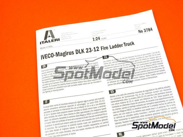 Image 21: Iveco Magirus DLK 26-12 Fire Ladder Truck | Maqueta de camión en escala1/24 fabricado por Italeri (ref.3784)