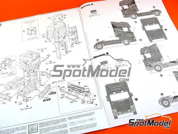 Image 10: Scania 164L Topclass 580 CV | Model truck kit in 1/24 scale manufactured by Italeri (ref.3819)