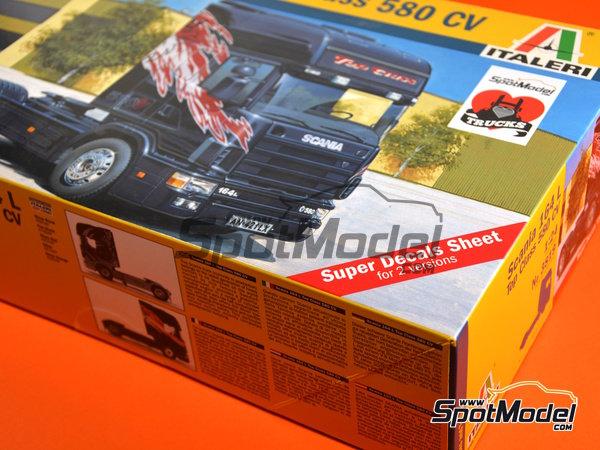 Image 11: Scania 164L Topclass 580 CV | Model truck kit in 1/24 scale manufactured by Italeri (ref.3819)