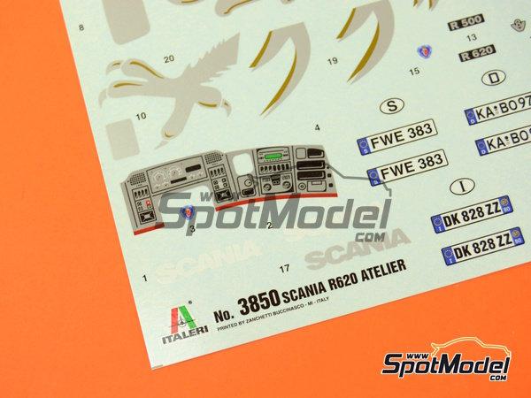 Image 8: Scania R620 Atelier | Maqueta de camión en escala1/24 fabricado por Italeri (ref.3850)