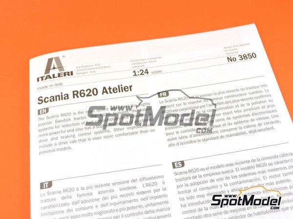 Image 11: Scania R620 Atelier | Maqueta de camión en escala1/24 fabricado por Italeri (ref.3850)